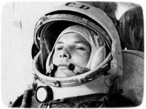Байконур, Россия. 12 апреля 1961 года. Юрий Гагарин на стартовой площадке незадолго до взлета.